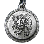 Rampant Griffin Pewter Pendant Necklace 121.0618
