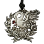 Pelican and Laurel Pendant Necklace 121.0623