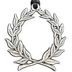 Laurel Wreath Pewter Pendant Necklace 121.0626