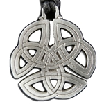 Round Pewter Celtic Knot Pendant Necklace 121.0655