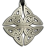 Square Celtic Knot Pewter Pendant Necklace 121.0656