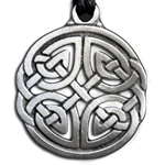Round Celtic Knot Pendant Necklace 121.0659