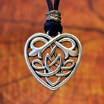 Celtic Heart Knot Pendant Necklace 121.0664