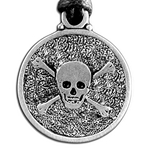 Pirate Jolly Roger Skull and Bones Pendant Necklace 121.0911