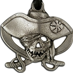 Pirate Skull and Crossed Swords Pendant Necklace 121.0912