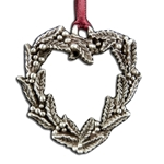 Holly Wreath Heart Ornament 119.0479