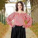 Anne Bonney Striped Blouse 22-C1080