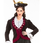 Ladies Velvet Pirate Jacket C1357