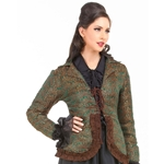 Ruffled Brocade Jacket C1359