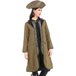 Ladies Pirate Coat with Faux Vest