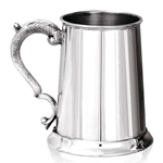 Georgian Handle Pewter Tankard One Pint Plain EP172