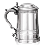 Worcester Lidded One Pint Pewter Tankard EP034