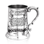Saint Andrews Course One Pint Pewter Tankard TS320