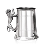 Lion Handle One Pint Pewter Tankard
