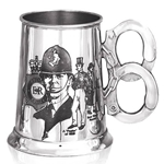 Police History One Pint Pewter Tankard