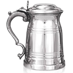 Old London Lidded One Pint Pewter Tankard