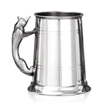 Fox Handle One Pint Pewter Tankard