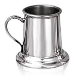 Mini 2 oz Straight Pewter Tankard