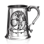 The Golfer One Pint Pewter Tankard
