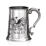 Wales Dragon One Pint Pewter Tankard
