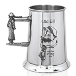Old Bill One Pint Pewter Tankard