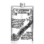 St. Andrews Golf Course Pewter Flask 8 Ounces