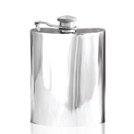 Plain Captive Top Pewter Flask 6 Ounces