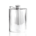 Plain Captive Top Pewter Flask 4 Ounces