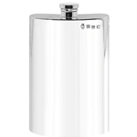 Plain Tall Pewter Flask 8 Ounces