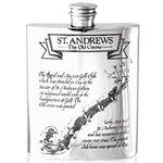 St. Andrews Course Pewter Flask 6 Ounces