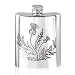 Thistle Pewter Flask 6 Ounces