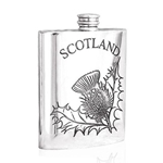 Scottish Thistle Pewter Flask 6 Ounces