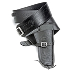 Fast Draw Embossed Leather Holster Set - Med Waist