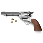 Old West M1873 Nickel Finish Blank Firing Revolver 24-38-161N