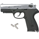 Bruni P4 Italian Semi Automatic Blank Firing Gun Nickel 8mm 24-38445