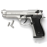 M92 Semi Automatic Blank Firing Gun Replica Nickel 8mm