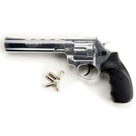 Viper 9mm Blank Firing Revolver 6inch Barrel Nickel 2438-7056