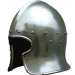 Functional Medieval Barbute Helmet - 15th Century