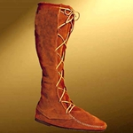 Mens High Suede Renaissance Boot Without Fringe 26-100282