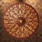 Gilded Paper Parasol 26-201108