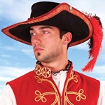 Suede Musketeer Hat 26-201224