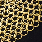 Plated Brass Chain Mail Coif 26-300122