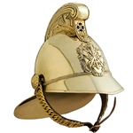 British Fireman's Helmet - Brass 19th Century 300200