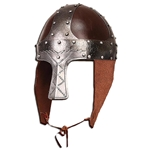 Early Norman Spangenhelm - Leather and Steel