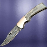 Damascus Folding Knife with Acrylic Scales 26-401454