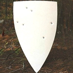 Functional Large Unpainted Medieal Shield