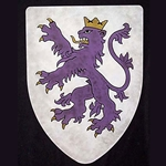 Crowned Purple Lion Steel Heater Shield