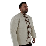 Natural Arming Jacket with Leather Tie Closure, Large 29-AB0158