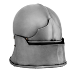 Jaw Bone Visor Sallet Helm, 14 Gauge, Large