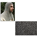 Chainmail Coif Flat Ring Dome Riveted Code 4 29-AB2552